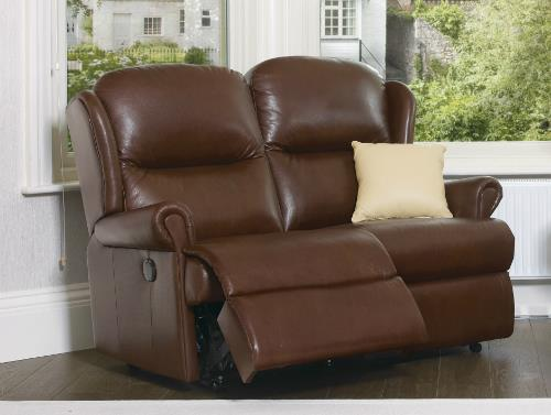 Malvern - Leather Reclining 2 Seater Settee