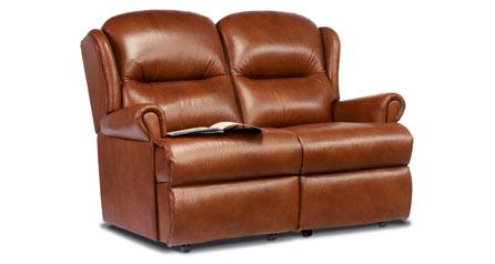 Malvern - Leather 2 Seater Settee - Fixed