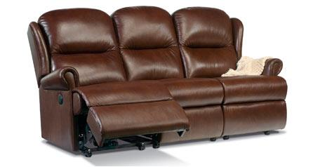 Malvern - Leather Reclining 3 Seater Settee