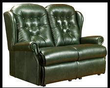 LYNTON - Leather 2 Seater Settee by Sherborne