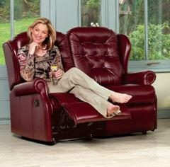 LYNTON - Leather 2 Seater reclining Settee by Sherborne