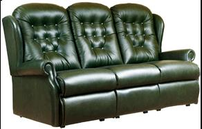 LYNTON - Leather 3 Seater Settee by Sherborne