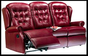 LYNTON - Leather 3 Seater reclining Settee by Sherborne [COPY]