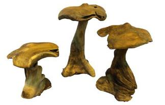 Set of Three Mushrooms