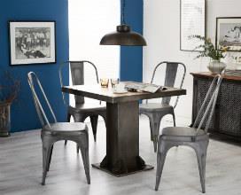 EVOKE - Iron & Wood Square Table