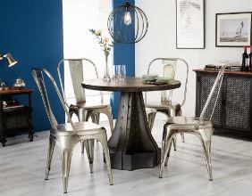 EVOKE - Iron & Wood Round Table