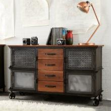 EVOKE - Iron & Wood 4 Drawer Sideboard