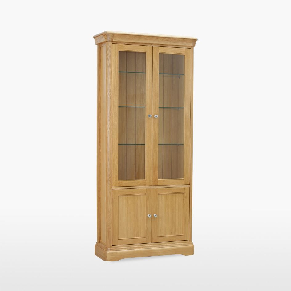 LAMONT - Glassed Bookcase with doors LAM508