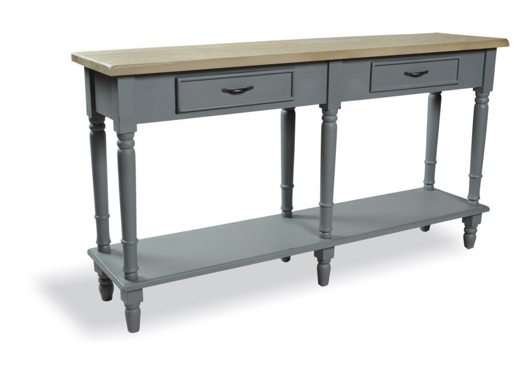 PROVENCE - CONSOLE TABLE- 2 drawers & Shelf