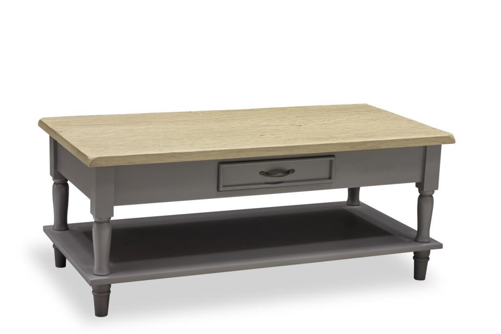 PROVENCE - COFFEE TABLE with 2 drawers & Shelf