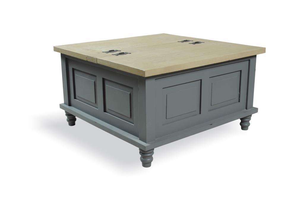 PROVENCE - SQUARE COFFEE TABLE with storage