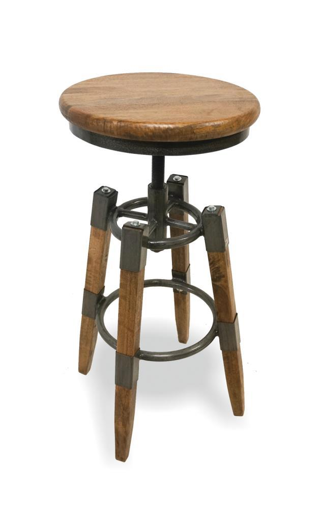 RE-ENGINEERED SQUARE LEG - Swivel Stool