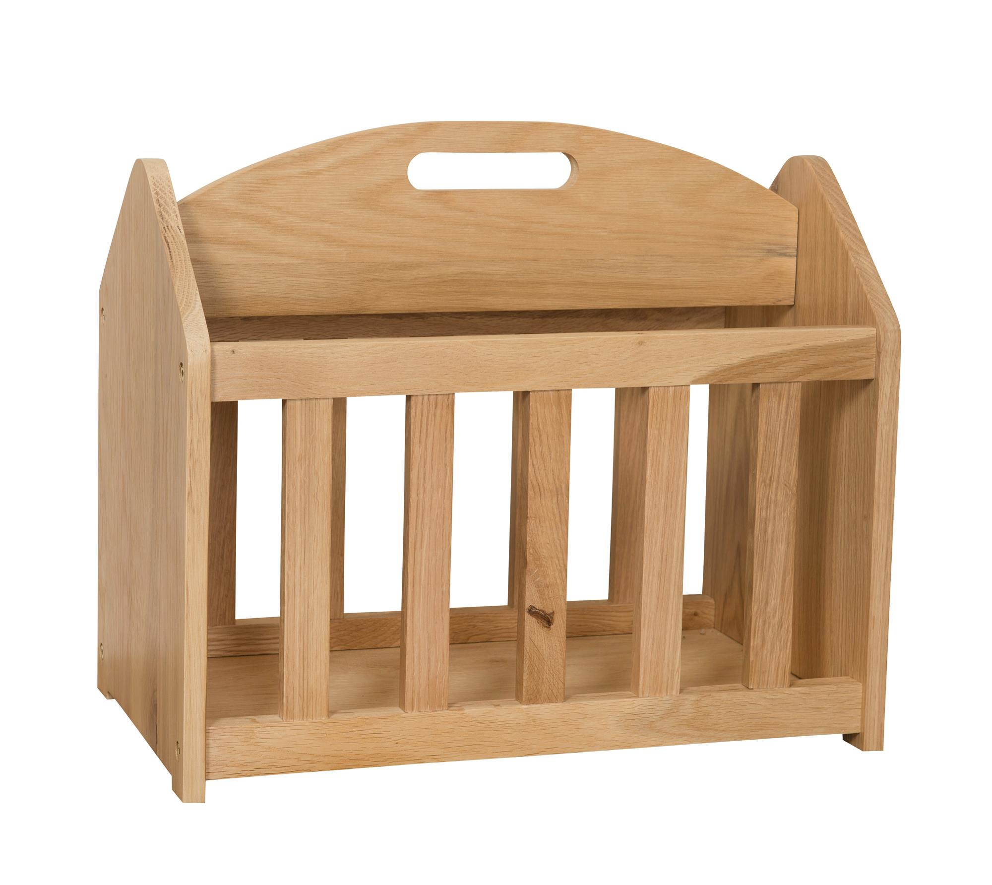 OAK - MAGAZINE RACK