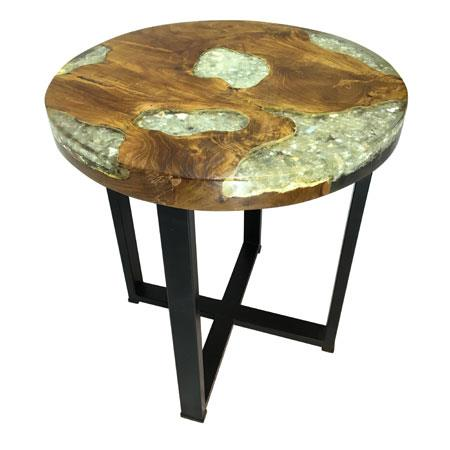 ROOT - Clear Resin Mirror Side Table