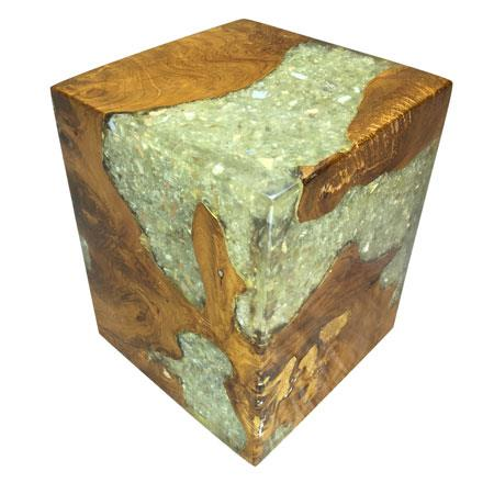 ROOT - Clear Resin Mirror Block Square