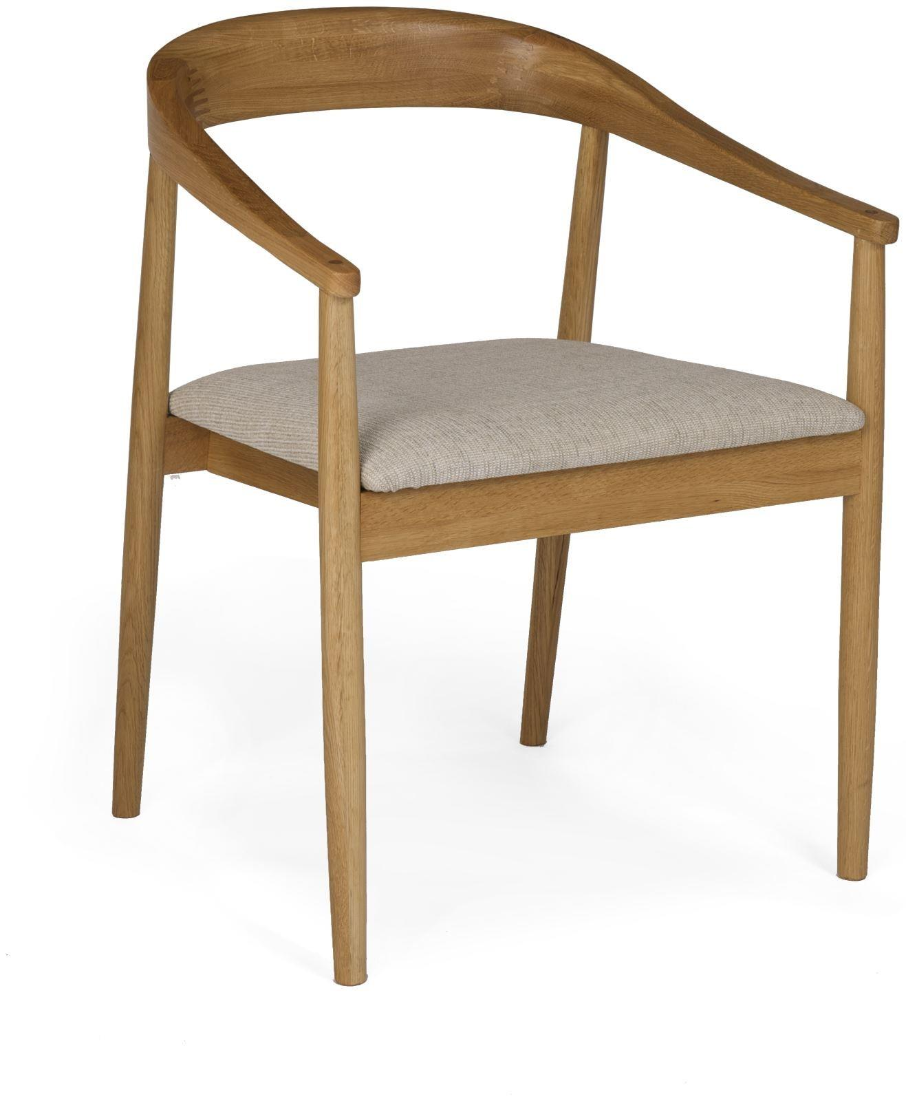 MALMO - Oak Carver Dining Chair -