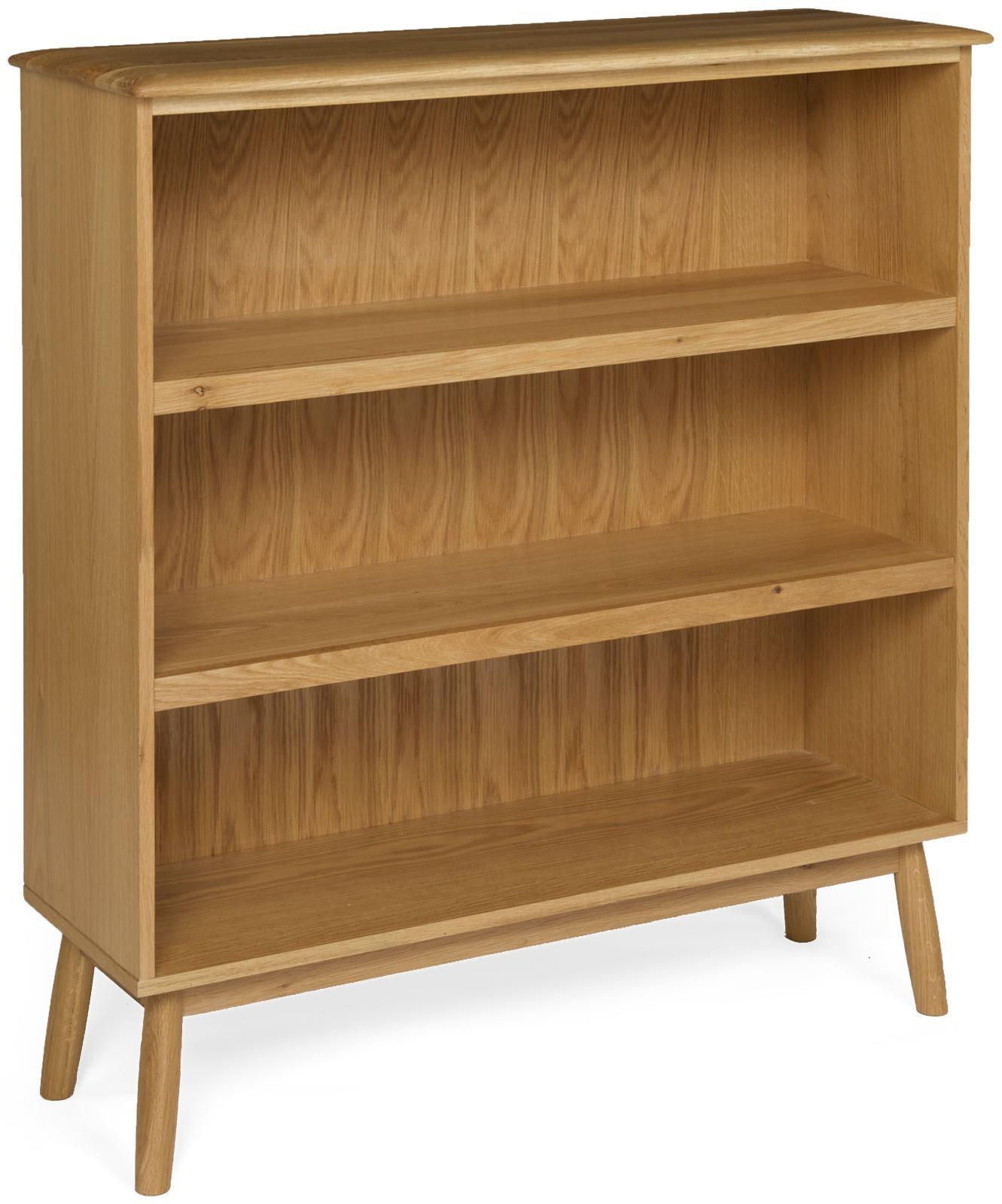 MALMO - Oak Wide Bookcase