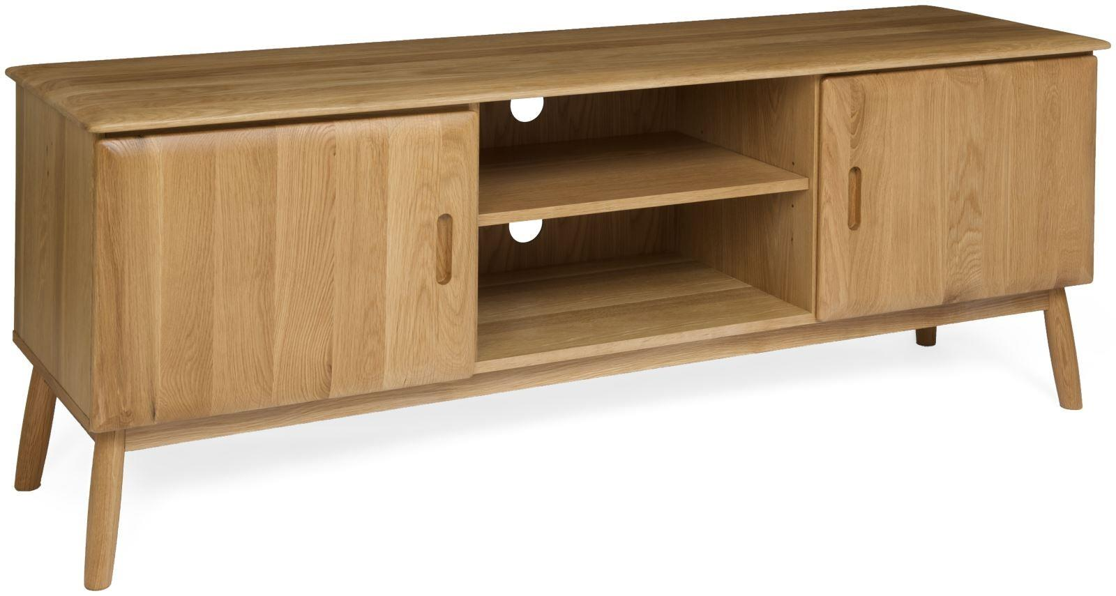 MALMO - Oak TV Cabinet with 2 doors