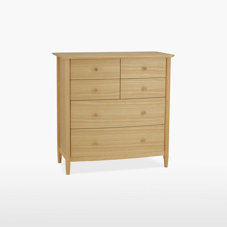 ANAIS - Oak Chest of 6 Drawers (4+2) - 804