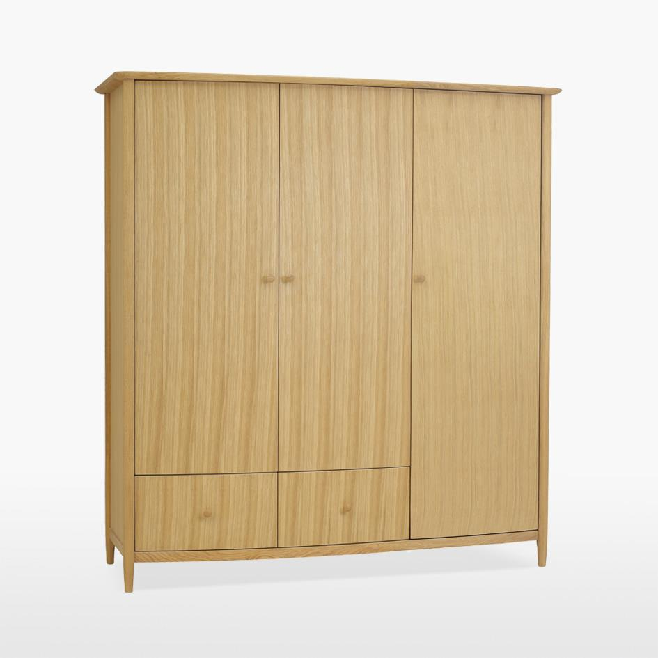 ANAIS - Oak All Hanging Triple Door Robe - 812