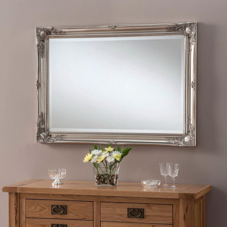 SWEPT SILVER  -  Wall Mirror