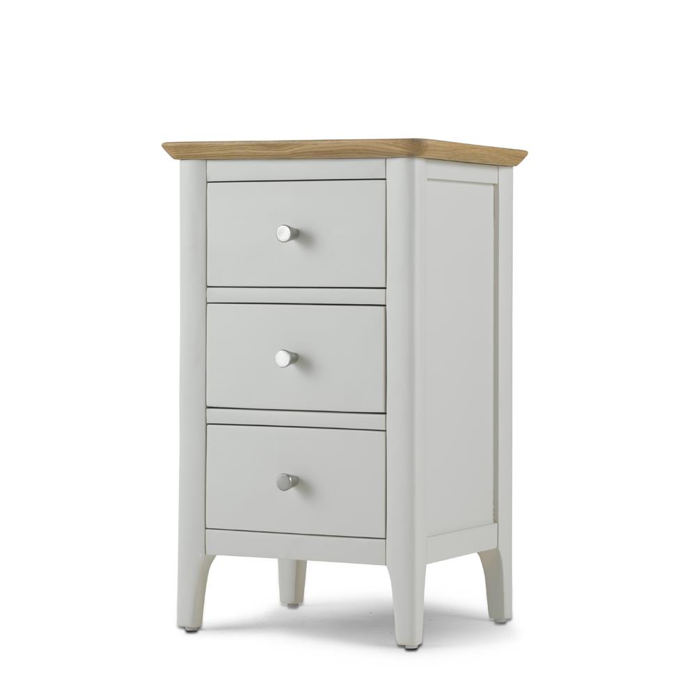 CORFE Painted - 3 Drawer Painted Bedside Cabinet.