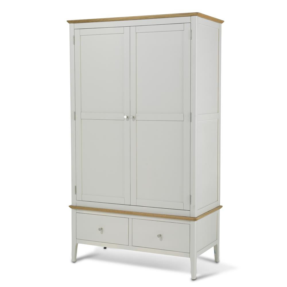 CORFE Painted - Painted Double Wardrobe with Drawer