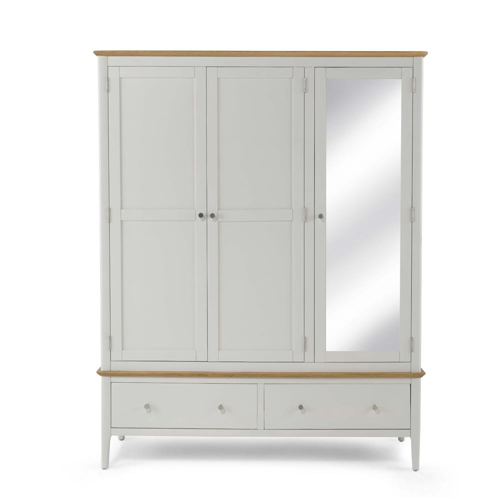 CORFE Painted - Painted Triple Wardrobe with Mirror