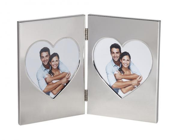 Twin Heart Picture Frame