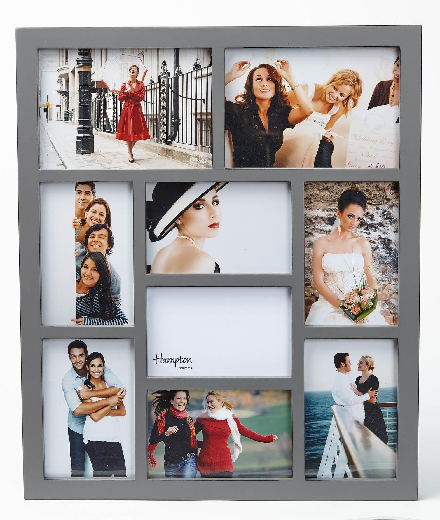 Grey Multi Picture Frames -