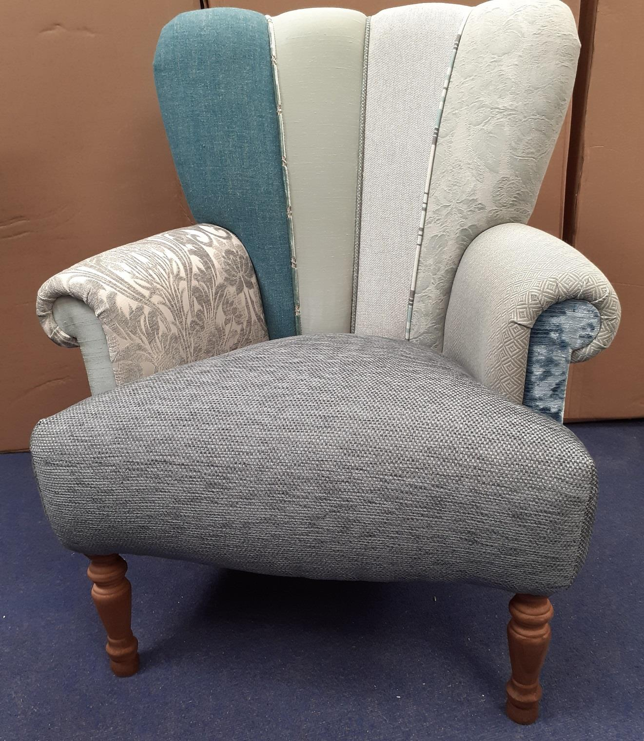 HARLEQUIN Chairs by Hunter Knight Greys & Blue