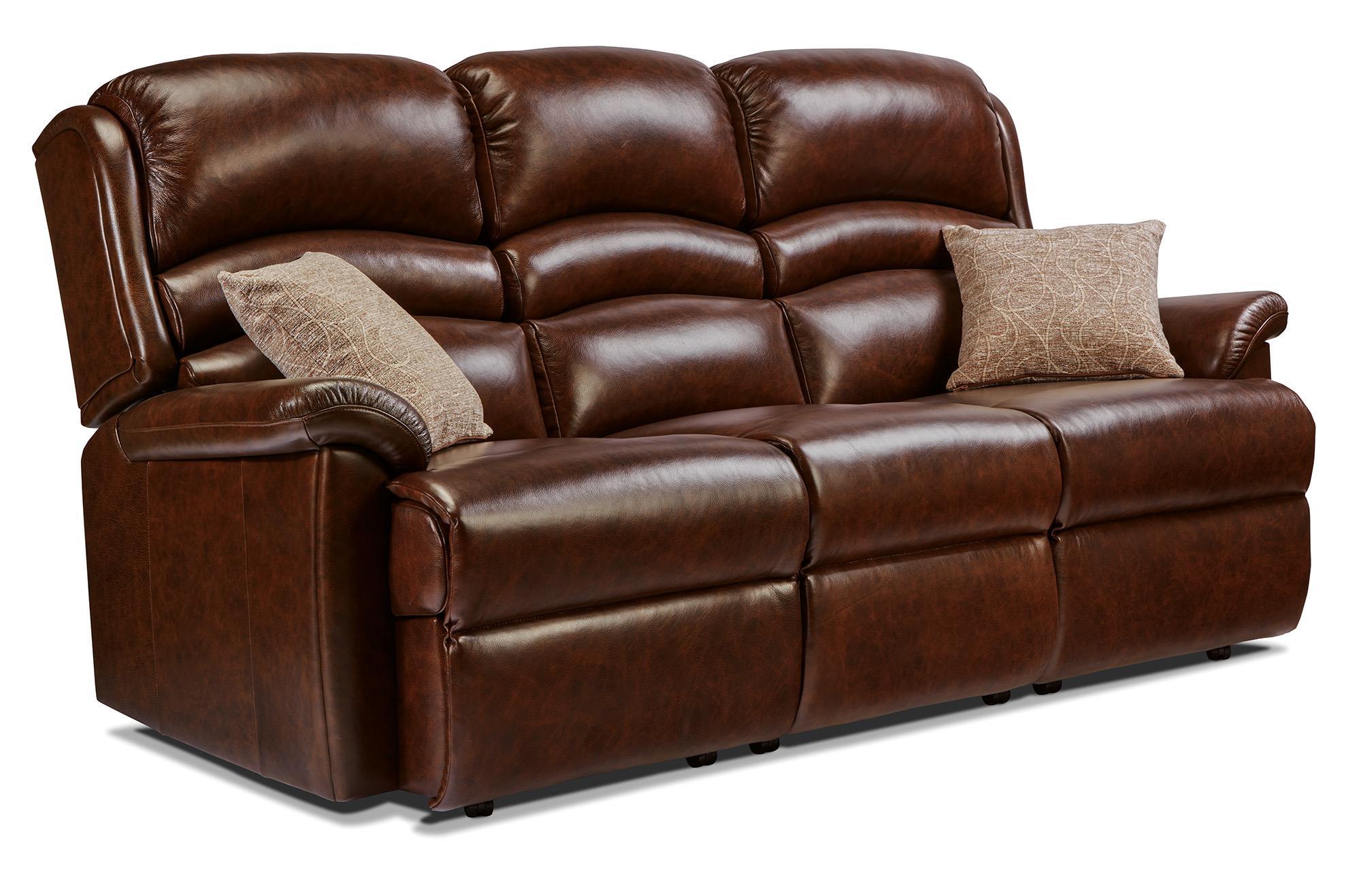 OLIVIA - 3 Seater Leather Settee