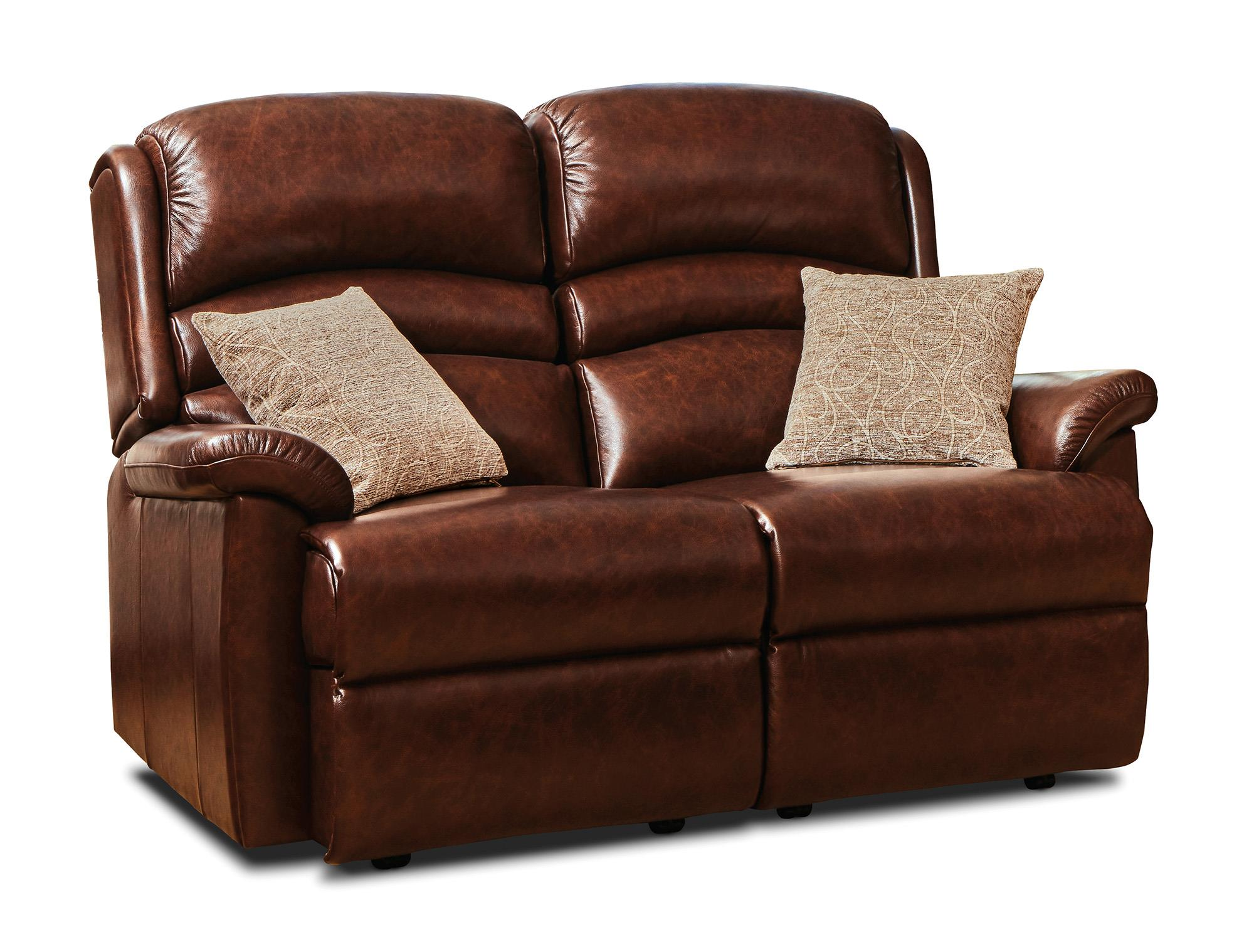 OLIVIA - 2 Seater Leather Settee