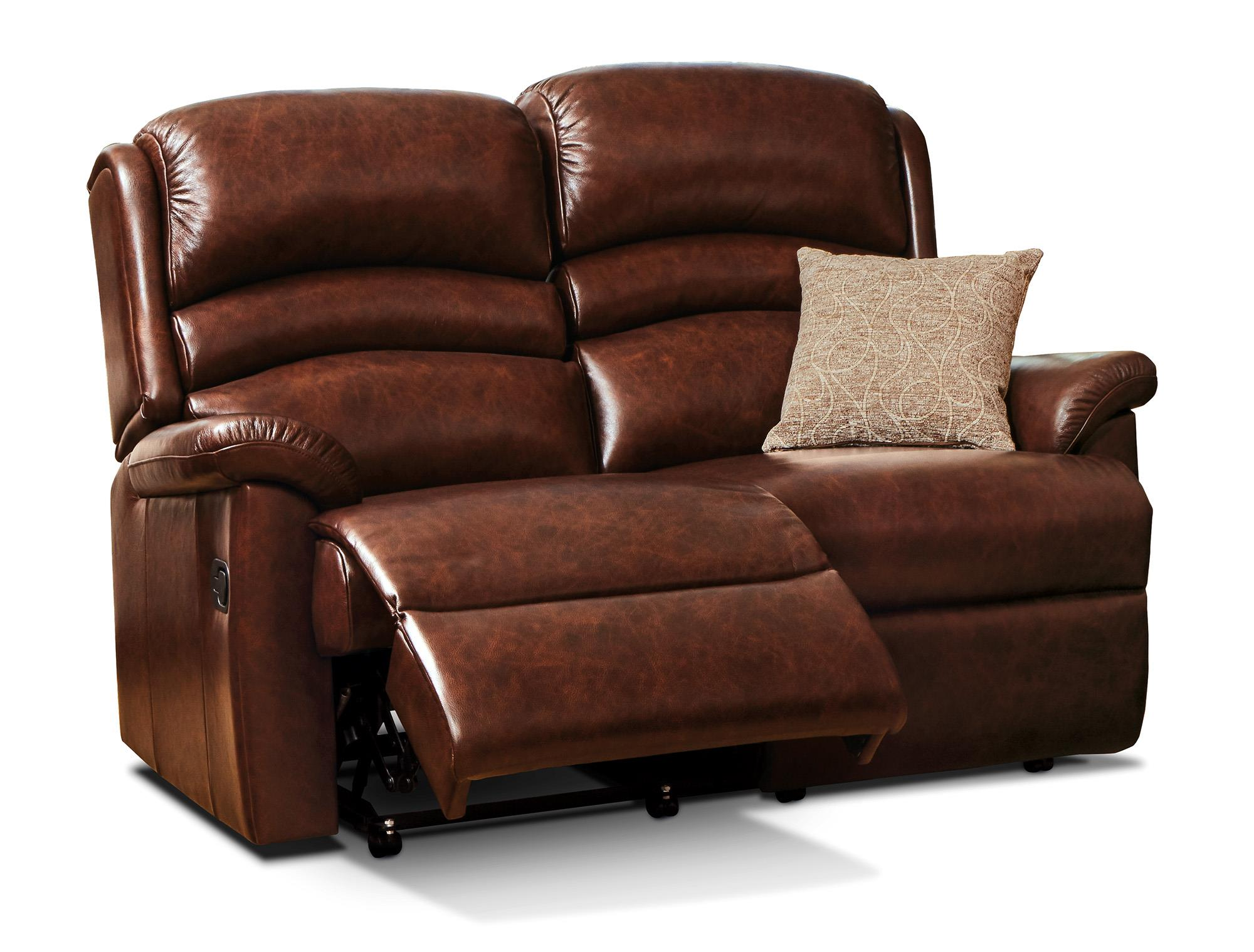 OLIVIA - Leather Reclining 2 Seat Settee