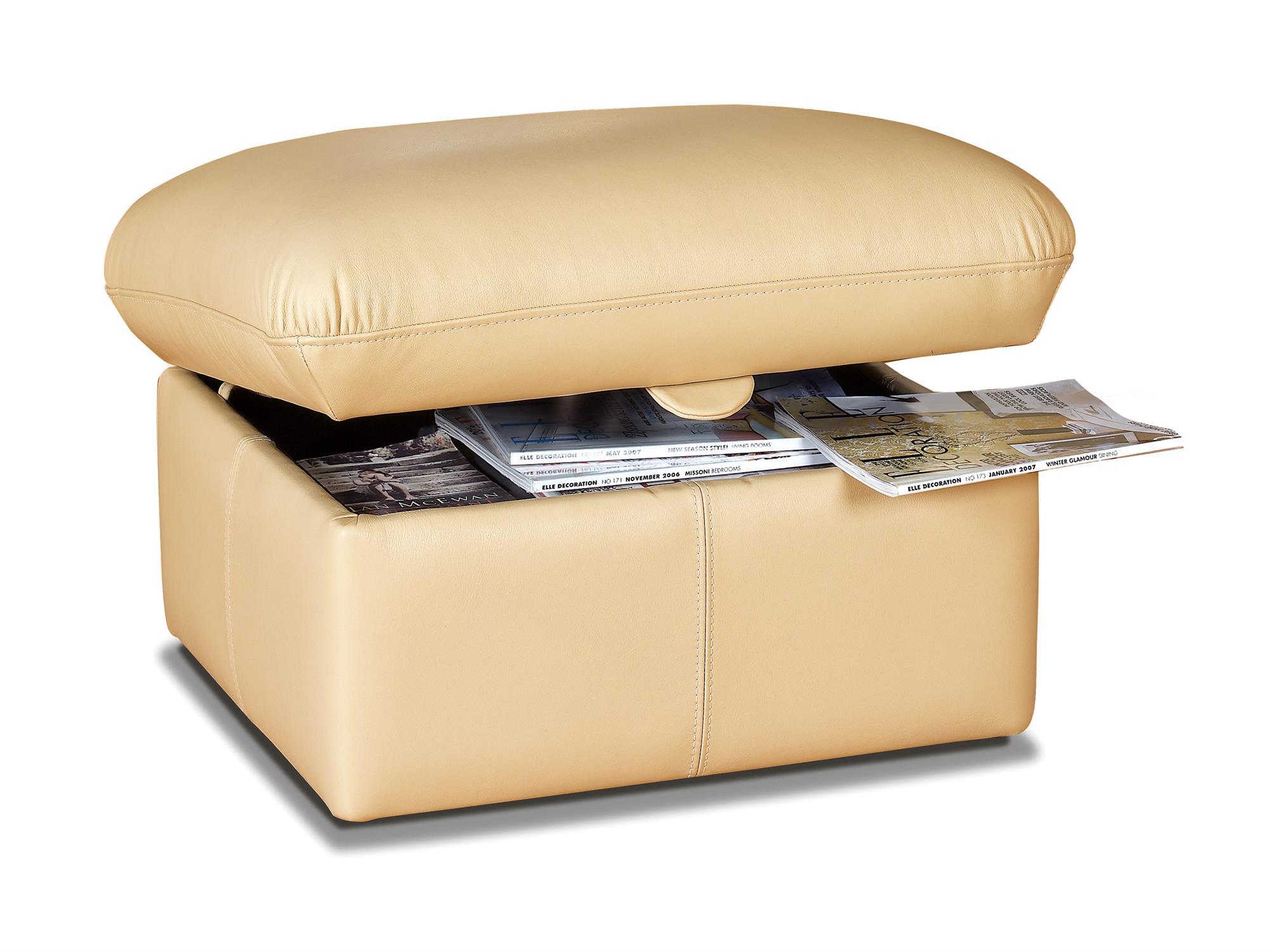 OLIVIA - Leather Foot stool