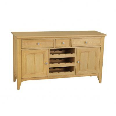 NEW ENGLAND - Sideboard 3 Door with Wine Rack by TCH.
