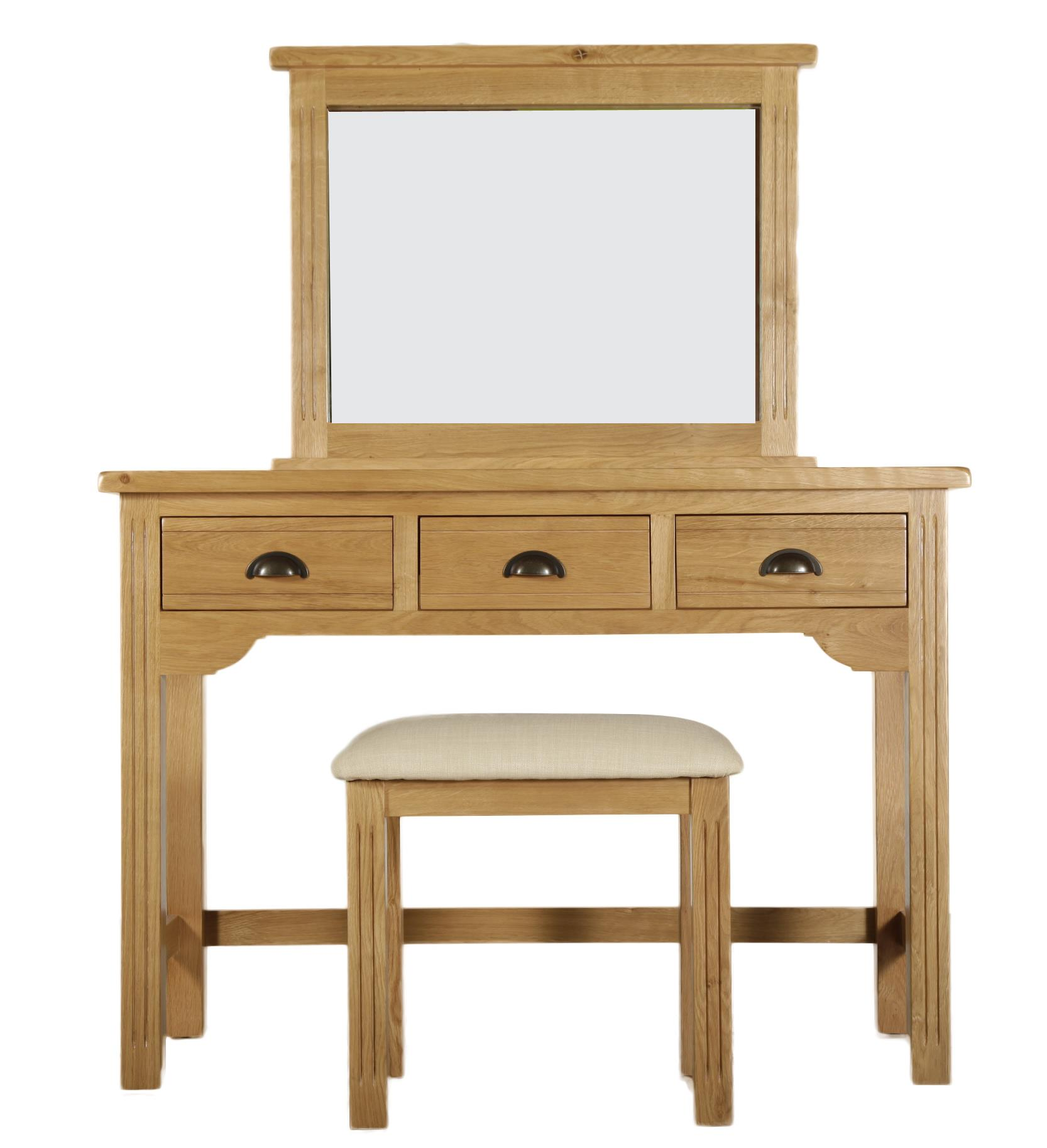 Hampton Court Oak Dressing Table Set of 3