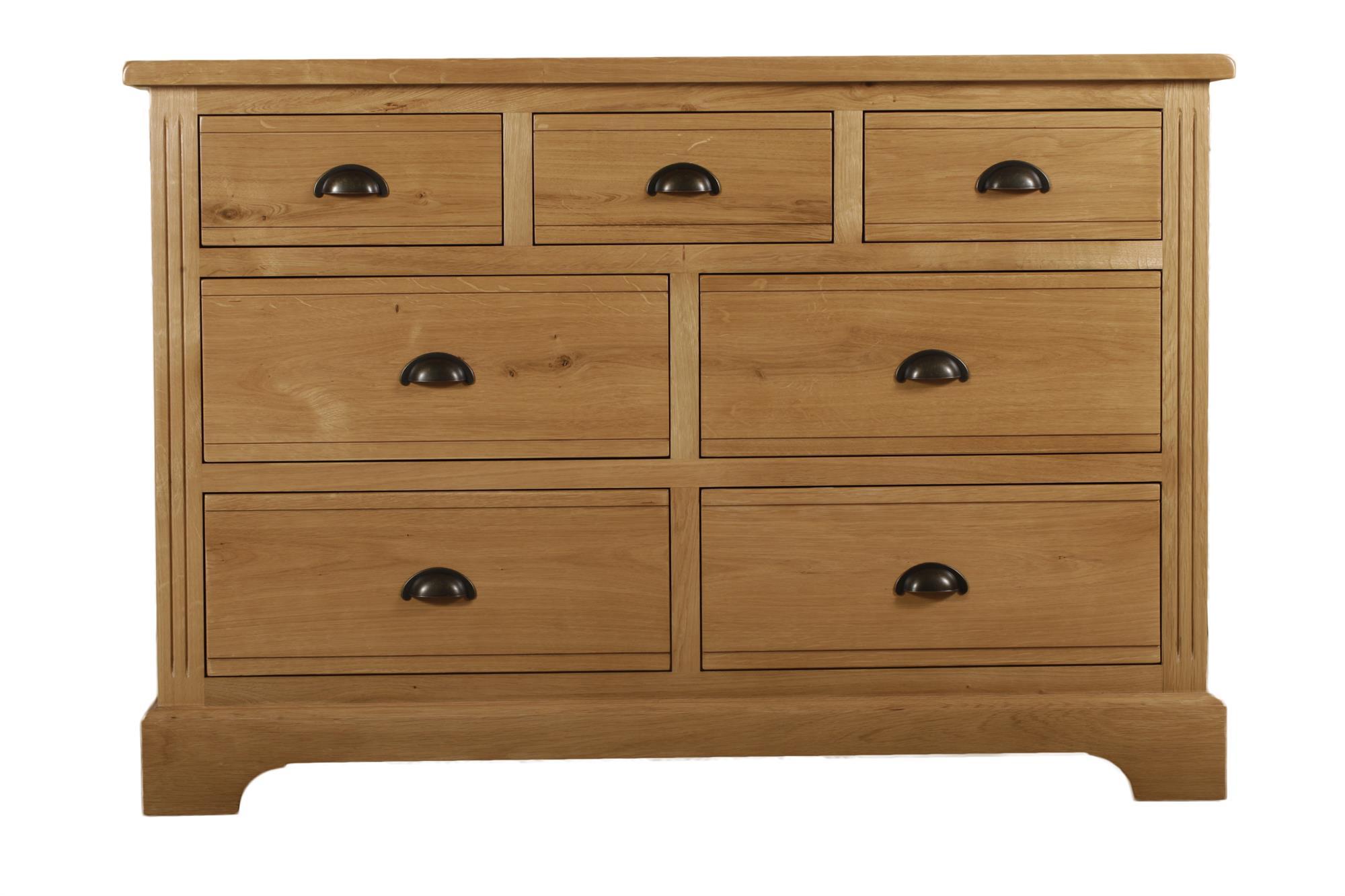 Hampton Court Oak 3 Over 4 Drawer Chest