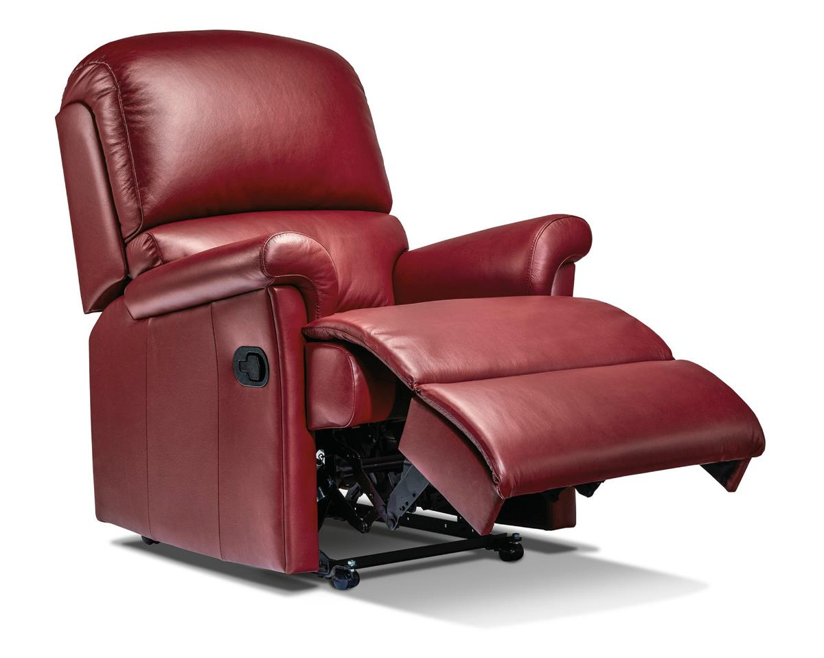 Nevada Powered Recliner Leather Chair - by Sherborne