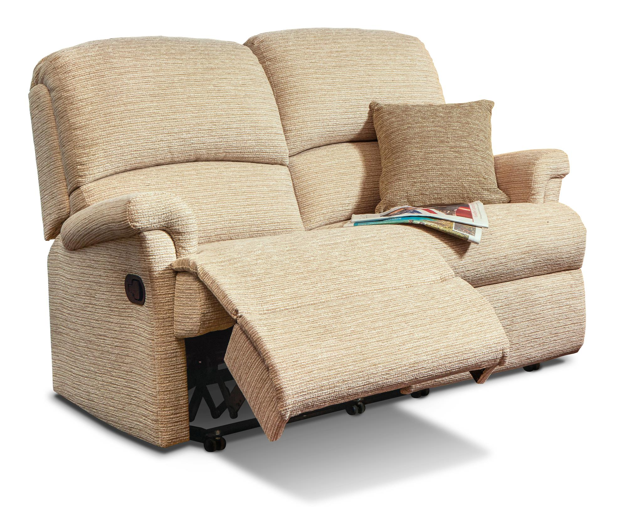 Nevada 2 Str Reclining Settee - by Sherborne