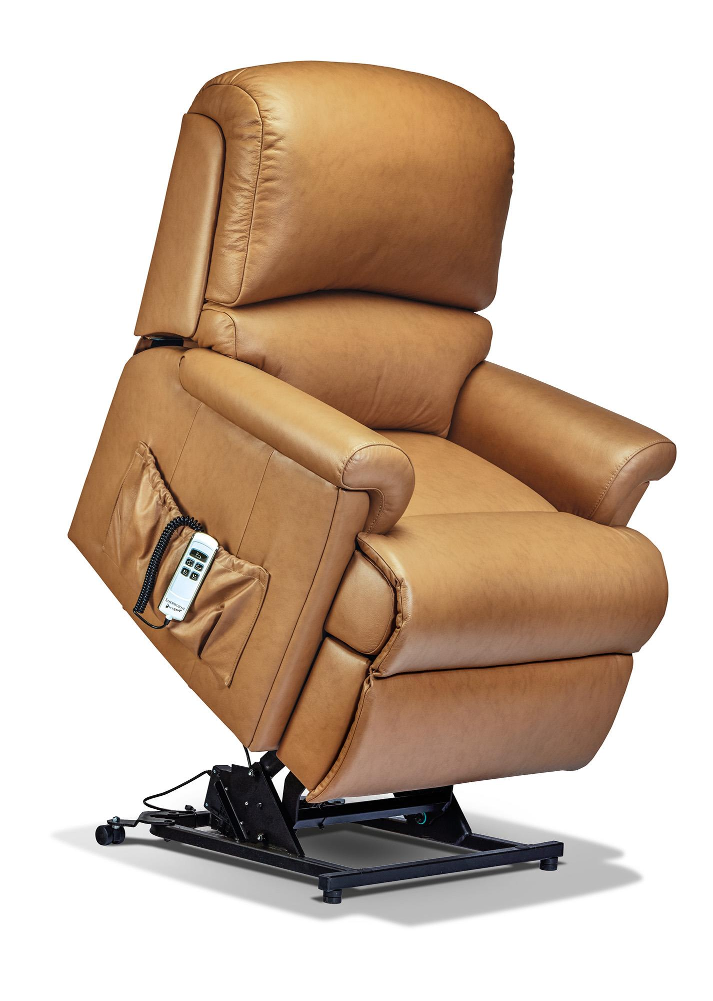 Nevada Riser Recliner Leather Chair - by Sherborne
