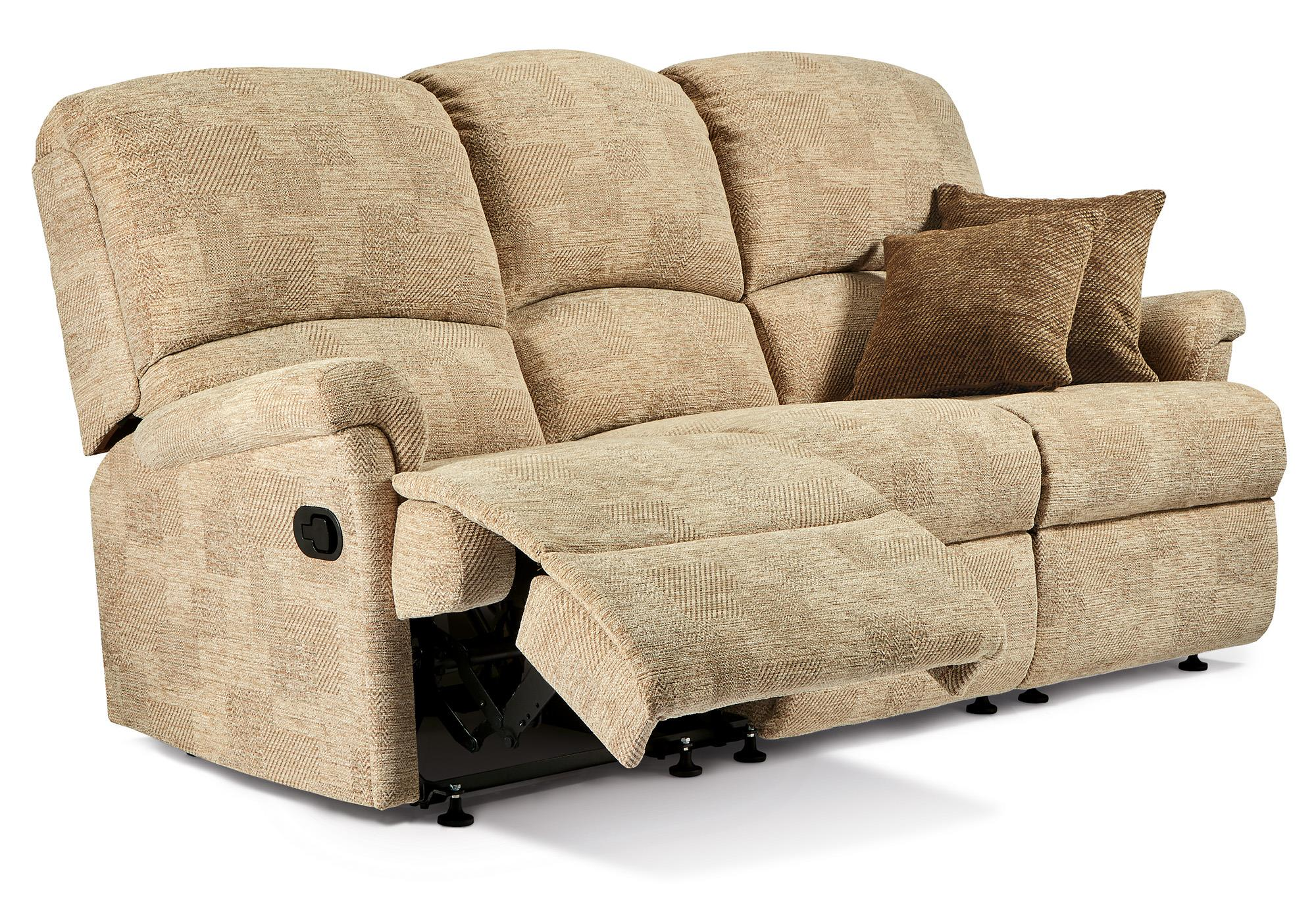 Nevada Leather 3 Str Reclining Settee - by Sherborne   [COPY]