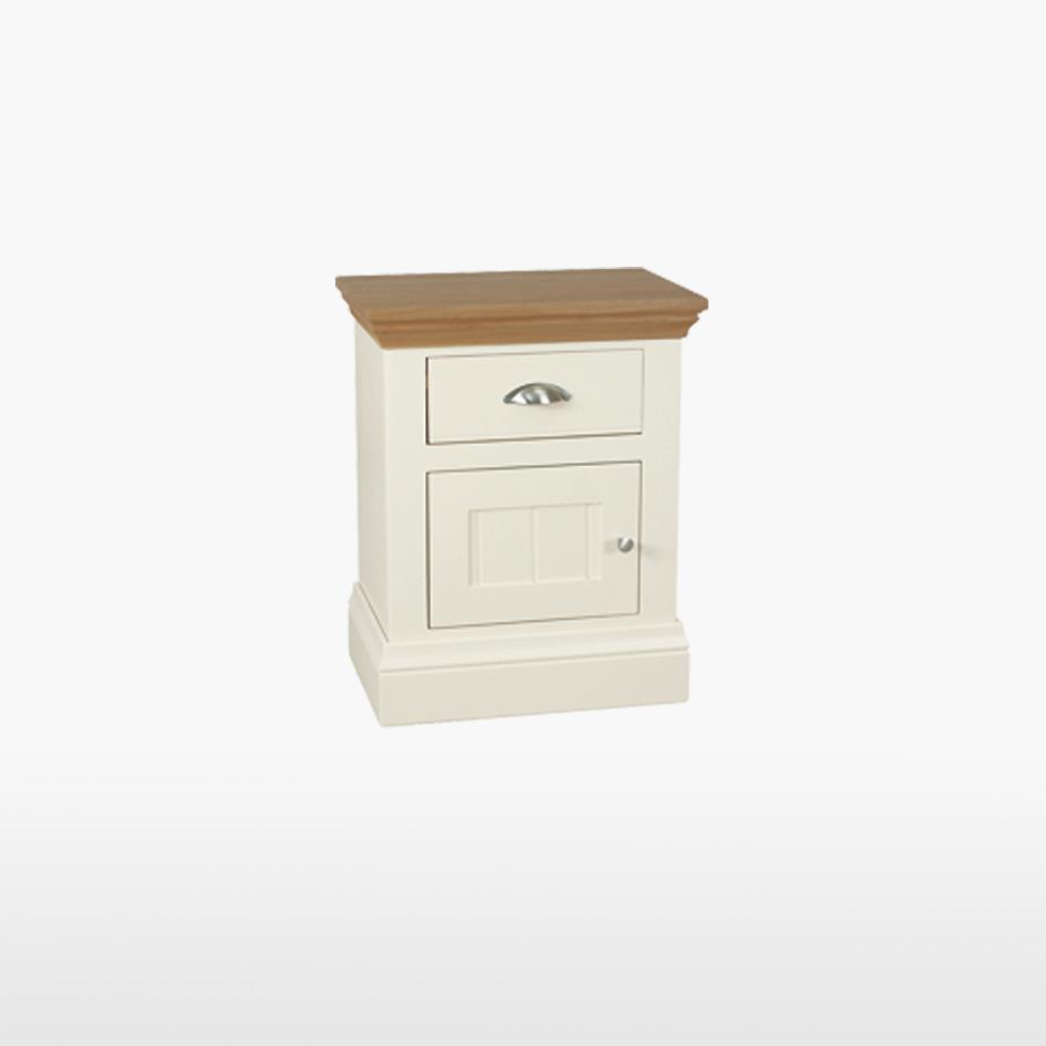 Coelo - Small 1 Drawer 1 Door Bedside - COL827R OW/L]