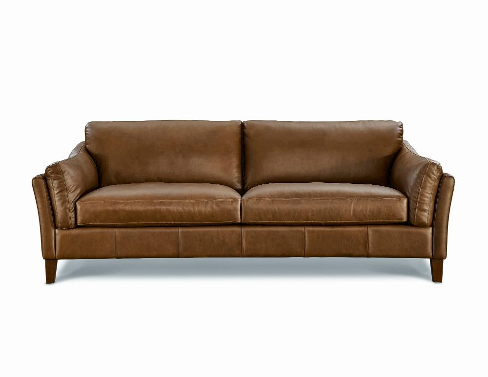 LYON leather 2.5 seater settee