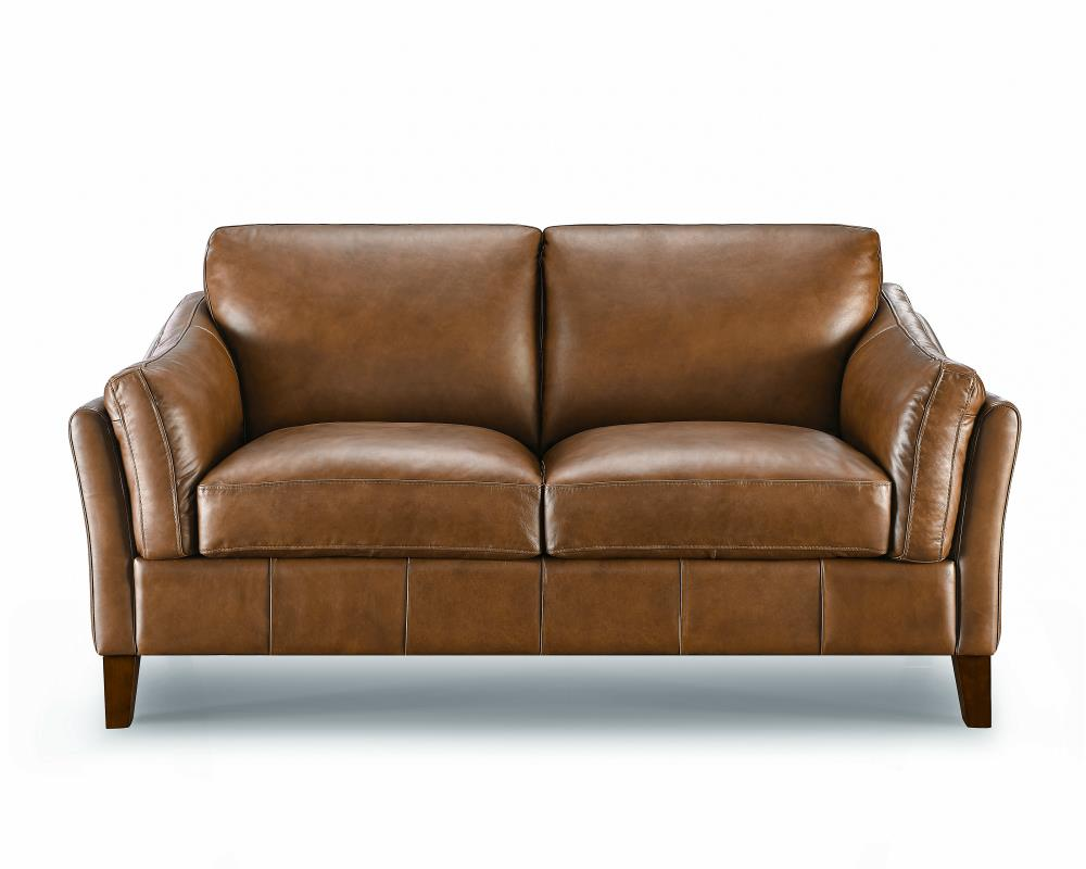 LYON leather 2 seater settee