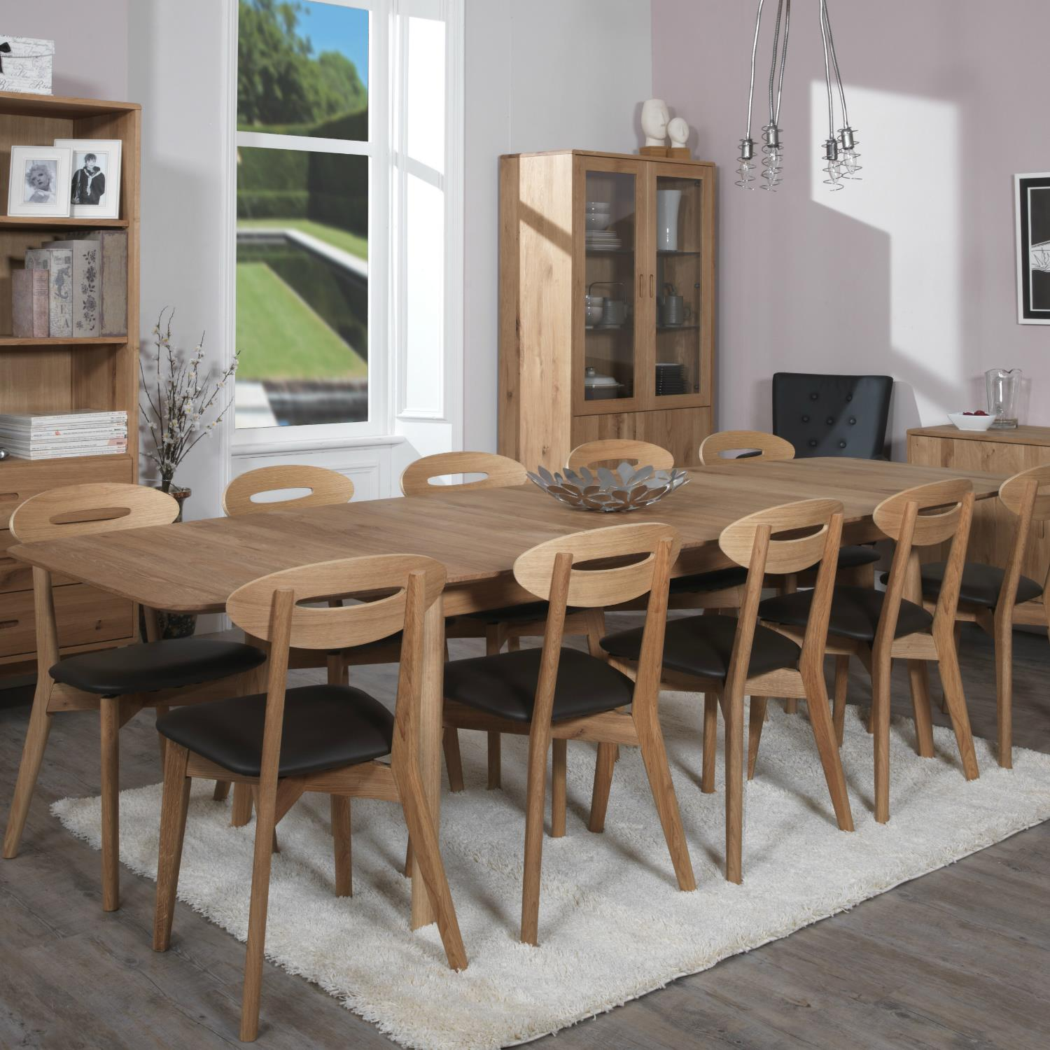 Narvik - Ellipse Dining Table - with Extension