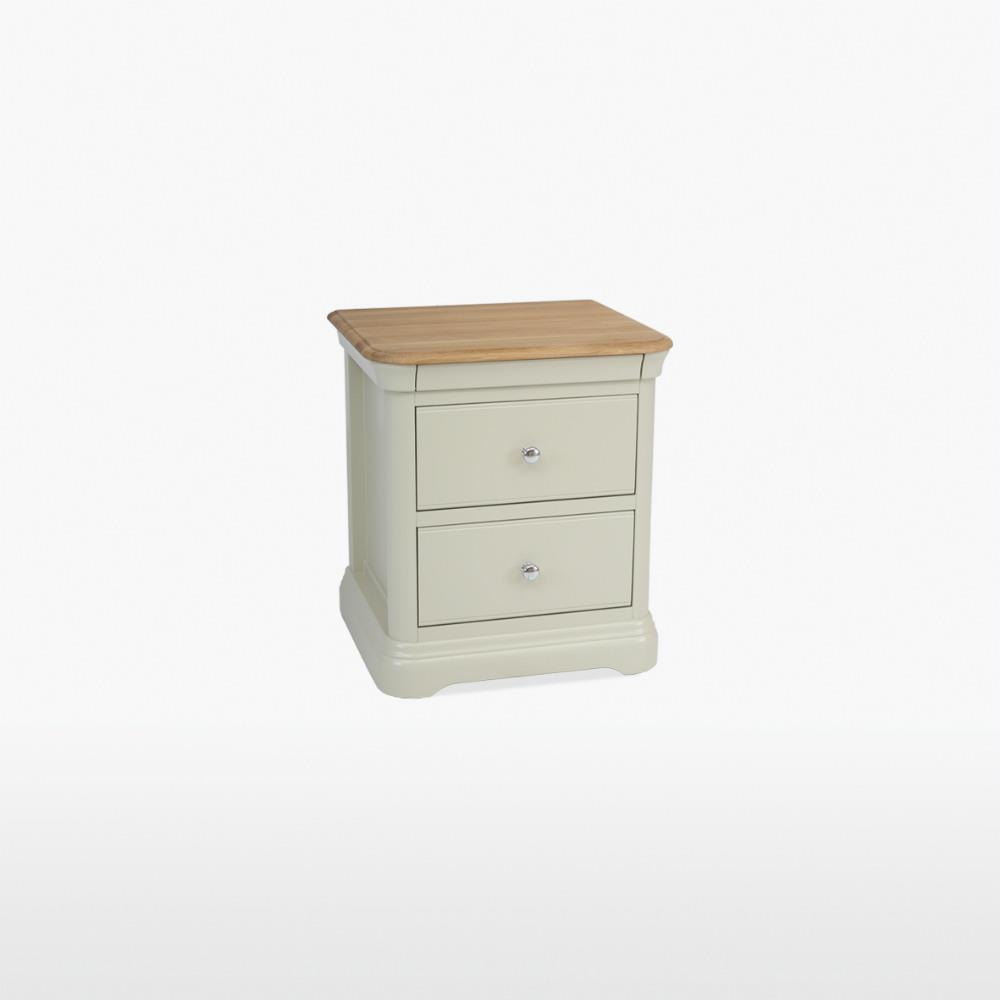 CROMWELL - 2 Drawer Bedside - CRO801 Toasted Almond & Blonde Oil