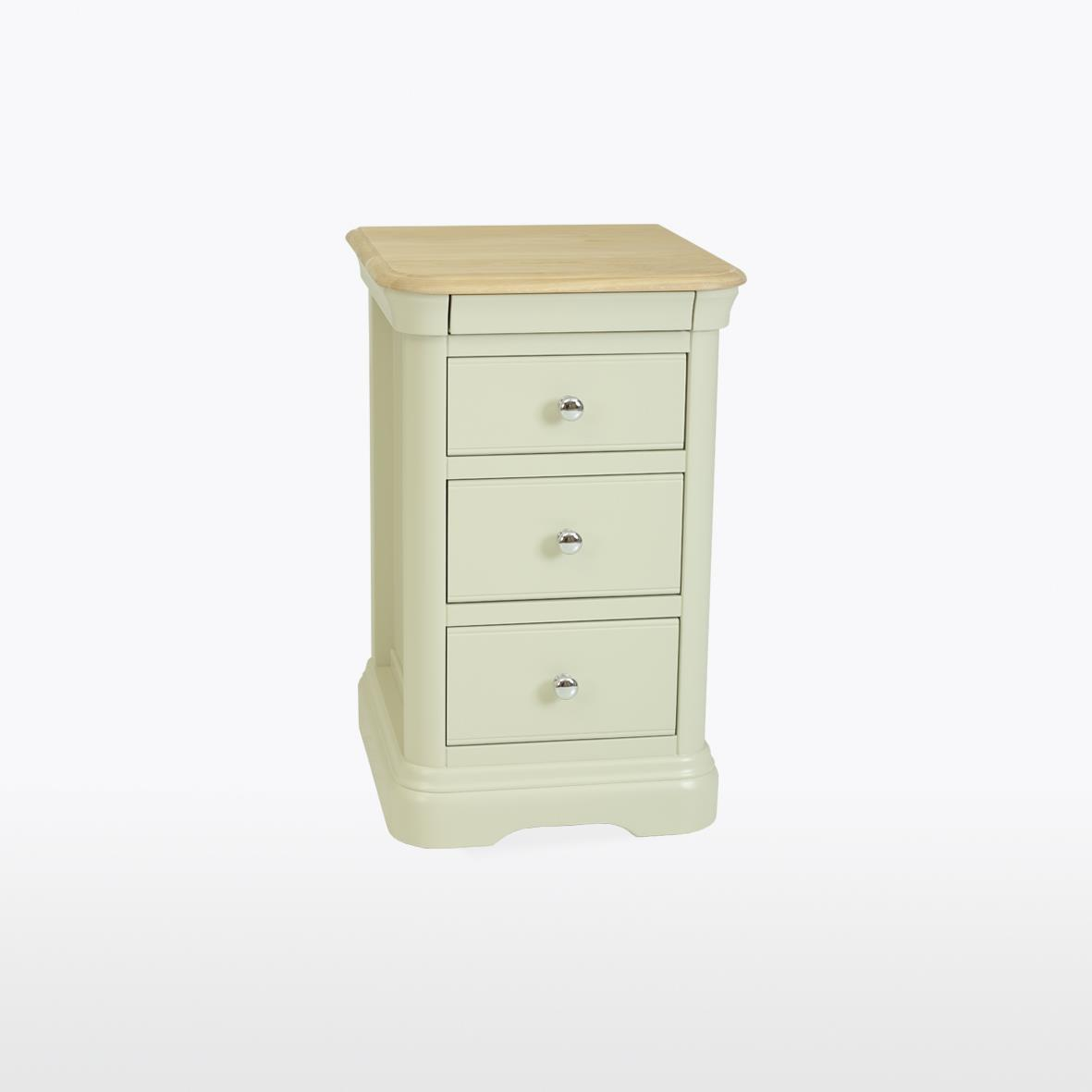 CROMWELL - 3 Drawer Bedside - CRO832