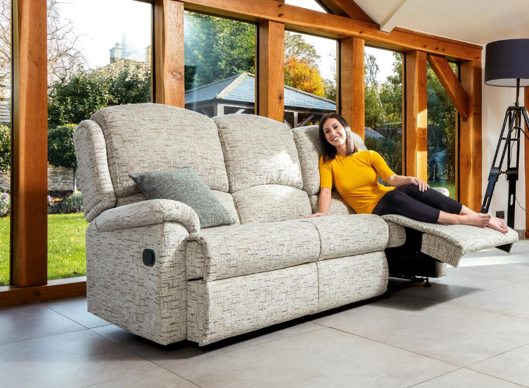 VIRGINIA - 3 Seat Reclining Settee - by Sherborne