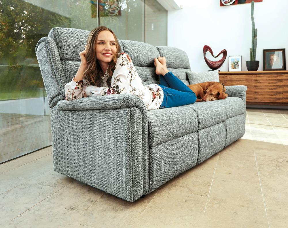 ROMA - 3 Seater Reclining Settee by Sherborne.